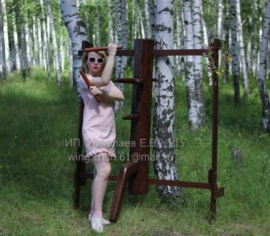 вин чун деревянный манекен